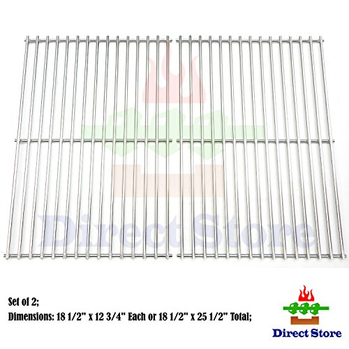 Direct store Parts Kit DS118 Solid Stainless Steel Cooking grids Replacement Charbroil, DCS,Kenmore Sears, Master Chef Gas Grill (Cooking Grids Replacement Dcs)