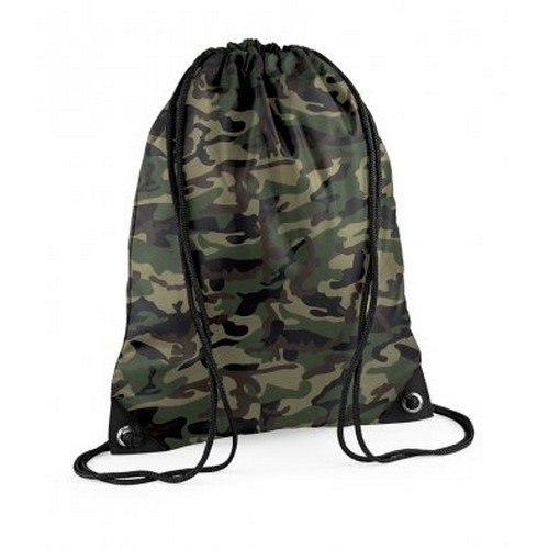 Bagbase Premium Gymsac Water Resistant Bag (11 Liters) (One Size) (Jungle Camo)