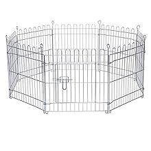 Dibea FG00551, Parque Jaula para Mascotas pequeñas (Altura 58 cm) recinto Plegable con Puerta, (AxL) 58x59 cm x 8 Piezas (Otra Alturas Varias)