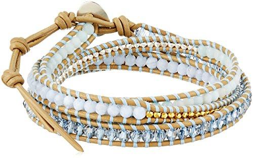CHAN LUU Multi-Stone Amazonite Wrap Bracelet
