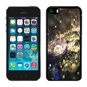 NEW Fashion Custom Designed Cover Case For iPhone 5C Fractal Black Phone Case