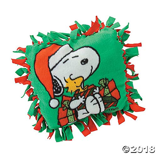 Peanuts Christmas Fleece Tied Pillow Craft Kit ()