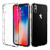 iPhone X Case Clear, CaseSolid Crystal Clear Ultra Thin Slim Fit Shockproof Bumper Full Protective Soft TPU Case for iPhone X - Clear