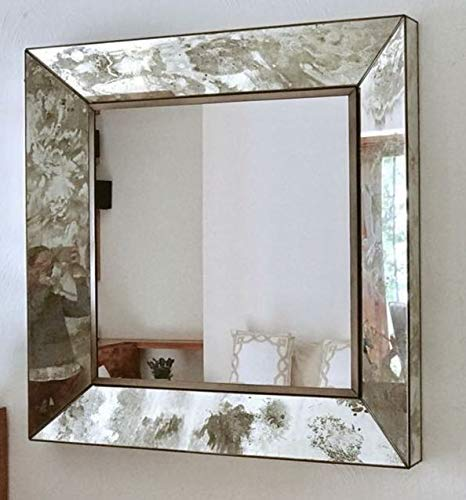 Espejo decorativo para pared, Estilo Vintage, Acabado envejecido ...