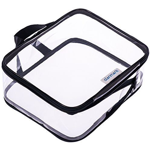 Clear Toiletry Bag – Compression Packing Cube – PVC Cosmetic Bag – Transparent Makeup Bag – See Through Plastic Clear Bag