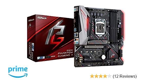 ASRock B365M Phantom Gaming 4 LGA1151/ Intel B365/ DDR4/ Quad CrossFireX/  SATA3&USB3 1/ M 2/ A&GbE/MicroATX Motherboard