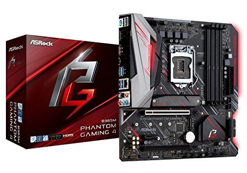ASRock B365M Phantom Gaming 4 LGA1151/ Intel B365/ DDR4/ Quad CrossFireX/ SATA3&USB3.1/ M.2/ A&GbE/MicroATX Motherboard ()