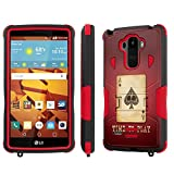 LG G Stylo [LS770 H631] Case, [NakedShield] [Black/Red] Combat Tough Shock Proof with Kickstand - [Time to Play Poker] for LG G Stylo LS770 -  NakedShield for LG G Stylo