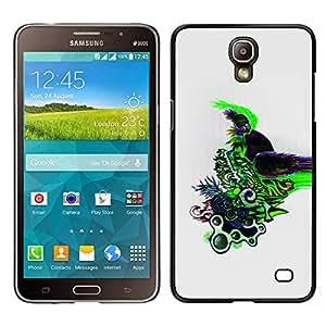TopCaseStore / la caja del caucho duro de la cubierta de protección de la piel - Cool Color Abstract Design Pattern Draw - Samsung Galaxy Mega 2