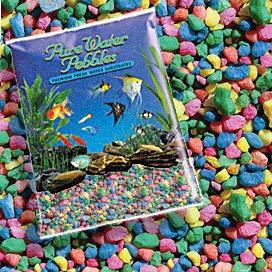 Pure Water Pebbles Nature's Ocean Aquarium Pebbles NEON Rainbow Gravel, 5-LB ()