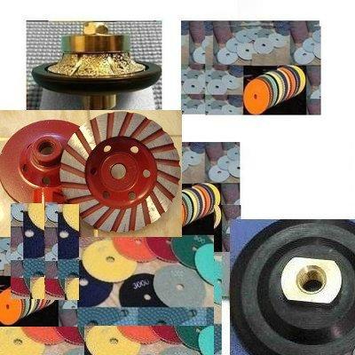 3/16'' Demi-bullnose/Roundover Diamond Hand Profiler/Router Bits Granite Polishing Pads Turbo Cup Wheel