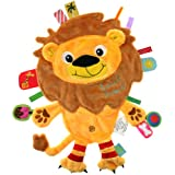 label label Friends Lion Silky Comfort Taggie Baby Soother Blanket