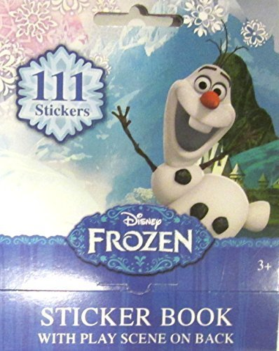 Disney Frozen Olaf Sticker Book with Play Scene on Back 111 Stickers (4