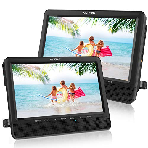 WONNIE 9.5 Car Dual Portable DVD Players