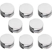 Gobesty Abrazaderas de vidrio, 8 piezas Clip de soporte de montaje de soporte de acristalamiento de balaustrada de 4-7…