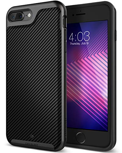 (Caseology [Envoy Series] iPhone 8 Plus/iPhone 7 Plus Case - [Premium Leather] - Matte Black)