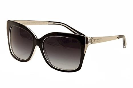 91134414127a Image Unavailable. Image not available for. Colour: Michael Kors Women's  Gradient Taormina MK2006-303311-57 Black Butterfly Sunglasses