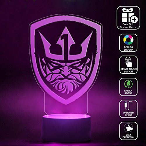 Price comparison product image CMLART 3d Lamp Call of Duty Medal Of Honor Neptune Logo Night 7 Color Change Best Gift Night Light LED Furnish Desk Table Lighting Home Decoration Toys