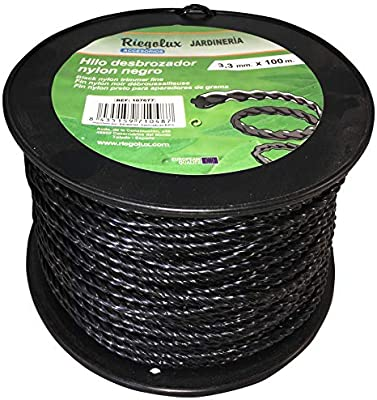 Riegolux 107677 Hilo Desbrozadora Nylon Helicoidal, Negro, 3.3 mm ...