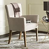 Safavieh Mercer Collection Dale Hemp & White Washed Arm Chair