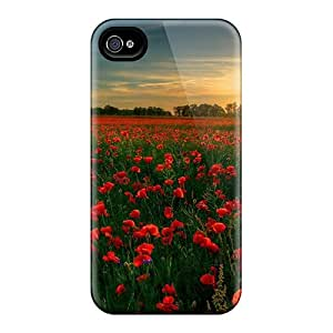 [mpy18440bDnl]premium Phone Cases For Iphone 6plus/ Red Flower Garden Tpu Cases Covers