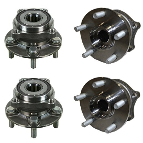 Detroit Axle - Front and Rear Wheel Bearing and Hub Assembly Set for 2009-2013 Subaru Forester - [2010-2014 Subaru Legacy] - 2010-2014 Subaru Outback - [2008-2011 Subaru Impreza No WRX - Bearings Wheel Rear Subaru