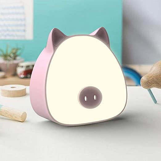 LALLing LED USB Luz de Noche para niños Regalo Cerdo Lámpara de ...