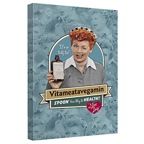 I Love Lucy - Vitameatavegamin Canvas Framed Art