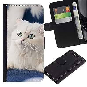 White American Curl Norwegian Cat - la tarjeta de Crédito Slots PU Funda de cuero Monedero caso cubierta de piel Sony Xperia Z1 Compact D5503