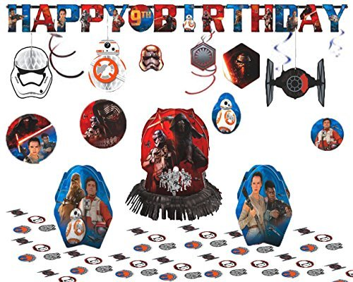 [Star Wars Episode VII Party Decoration Kit - Honeycomb Decorations, Swirl Value Pack, Jumbo Letter Birthday Banner, and Table Decorating] (Horror Makeup Value Kit)