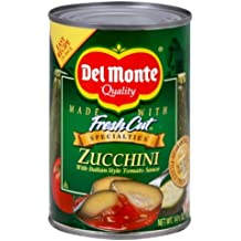 Del Monte, Zucchini with Italian Style Tomato Sauce, 14.5oz Can (Pack of 6)