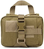 Tactical MOLLE Small First Aid Kit Rip-Away EMT Pouch- Premium Military Style Utility Pouch Medical Pocket Org