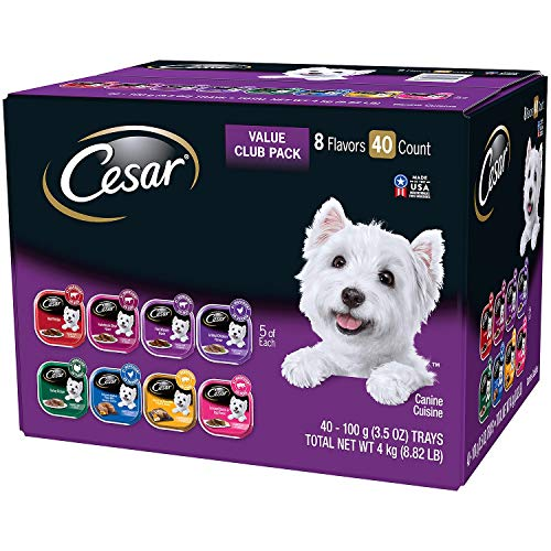 3 X Cesar Canine Cuisine Wet Dog Food, Variety Pack (3.5 oz., 40 ct.)