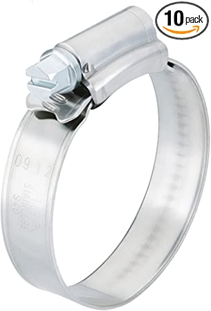 Scandvik 08116112017 Stainless Steel Hose Clamp 10 Pack SAE Size 6, 13-20 mm, 1//2-13//16, 9mm Band, 13620