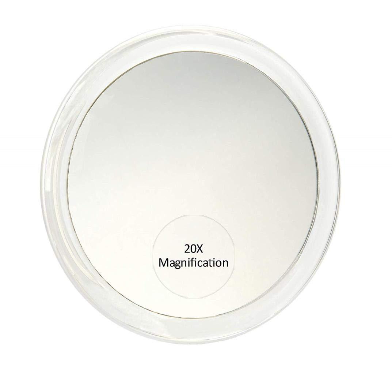 FIREPANDA 20x Specchio ingranditore con 3 Ventose tweezing e Utilizzare per lapplicazione di Trucco Specchio