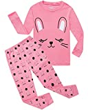 Dolphin&Fish Girls Pajamas Rabbit Little Kids Pjs 100% Cotton Toddler Sleepwear Clothes Shirts Size 6T