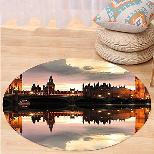 Kisscase Custom carpetUrban Surreal Evening at Big Ben London Historical Architecture British Town UK Scene for Bedroom Living Room Dorm Cinnamon (Beetle Costume Uk)