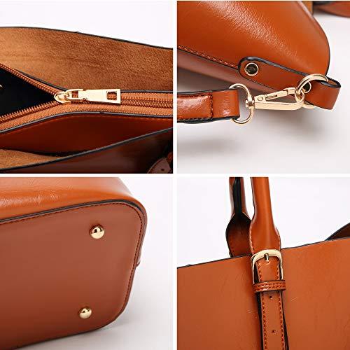 Donna Per Pu A Sapphireblue Grande Tracolla Borsa Pelle Con Bag In Shopping FXYRqAp
