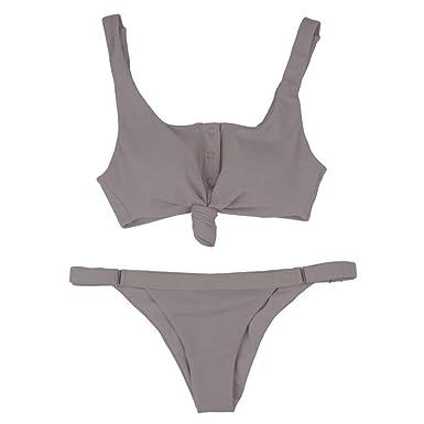 Bfmyxgs Mode Frauen Mädchen Badebekleidung Bikini Stilvolle Feste Zweiteiler Sexy Badeanzug Tankini Beach Badeanzug Monokini
