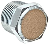 Parker 047160016 Sintered Bronze Breather Vent, 1 '' NPT Male, 1.31'' Length, 150 psi