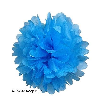 Set of 4 Tissue Paper PomPom Balls in Mixed Sizes Full Set 10-30cm!