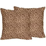 Cheetah Animal Print Decorative Accent Throw Pillows - Set of 2