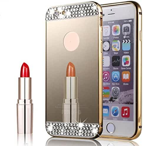For iPhone 7 Plus, Mchoice Luxury Mirror Bling Crystal Back Case Cover for iPhone 7 Plus