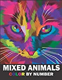 Mixed Animals Color By Number: Activity Coloring