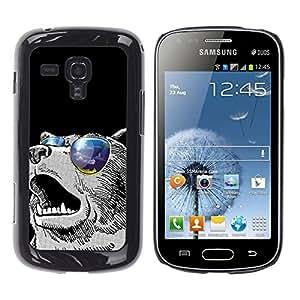 EJOY---Cubierta de la caja de protección la piel dura para el / Samsung Galaxy S Duos S7562 / --Enfriar gafas de sol Oso