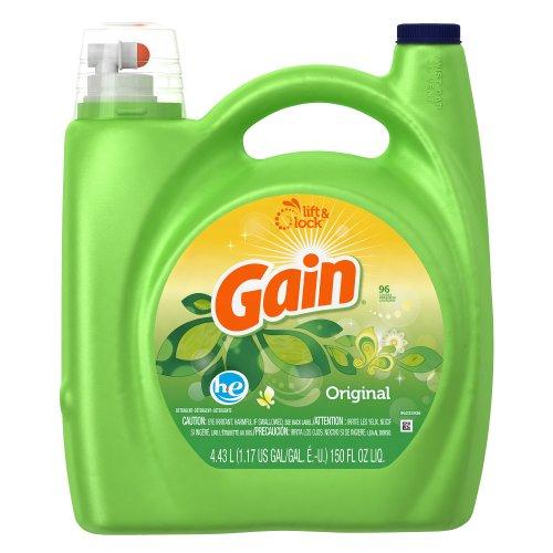 Gain HE 2x Concentrated Liquid Detergent, Original Fresh Sce