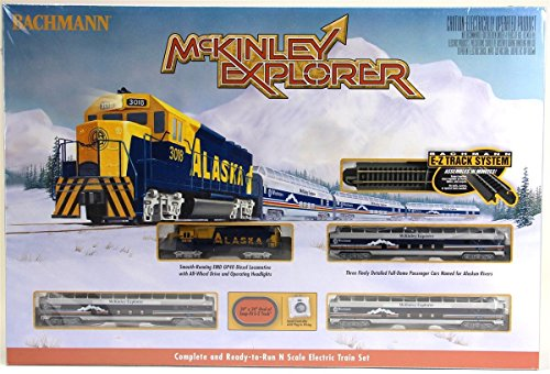Bachmann Industries McKinley Explorer Ready To Run Electric Train Set Train Car N Scale