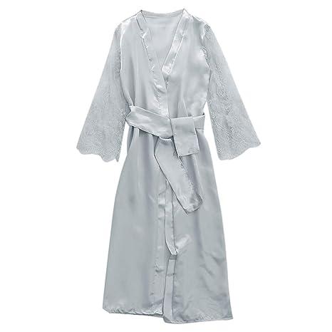 Amazon.com: HYIRI Daily Babydoll Nightdress Silk Lingerie , Womens Satin G-String Long LaceNightgown Sleepwear Sexy Robe: Clothing
