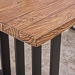 Christopher Knight Home Jayden Indoor Farmhouse Lightweight Concrete Dining Table, Natural Oak / Black