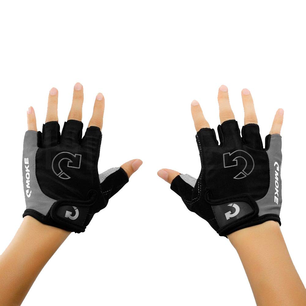 Glumes Bike Gloves Bicycle Gloves Cycling Gloves Mountain Biking Gloves with Anti-Slip Shock-Absorbing Pad Breathable Half Finger Outdoor Sports Gloves for Men&Women